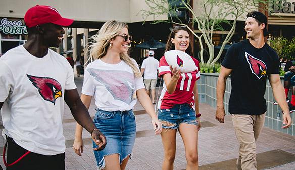 Walking to Football game