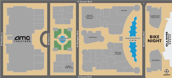 Westgate Entertainment District - Bike Night Map