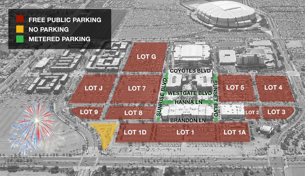 Fireworks for the Fourth | Parking Map