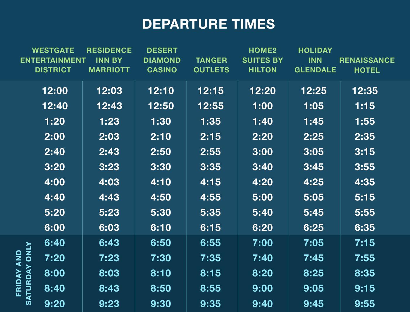 circulator-schedule